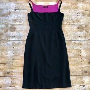 Tahari Bodycon Square Neck Lined Dress